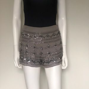 Forever 21 Sexy Sequin Shorts Gray & Silver Small